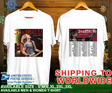 Keith Urban Graffiti U World Tour Dates 2018 Unisex White T Shirt S-3XL