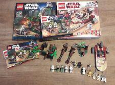 Lego Star Wars 8092 9489 7956 luke's landspeeder Endor Rebel Trooper Ewok Attack