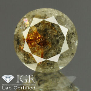 0.56 cts. CERTIFIED Round Brilliant Cut Gray Color Loose Natural Diamond 25213