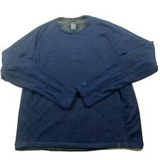 champion mens fleece pullover shirt navy size large nwt