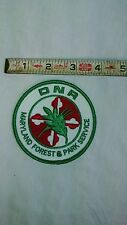 DNR MARYLAND FOREST AND PARK SERVICE EMBROIDERED PATCH, camping