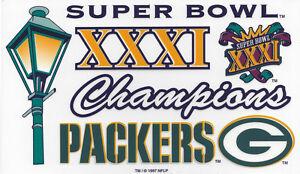 1997 Green Bay Packers Super Bowl XXXI Champs window decal Brett Favre