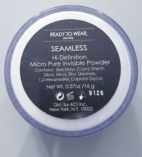 READY TO WEAR NY SEAMLESS HI-DEFINITION MICRO PURE INVISIBLE FACE POWDER .57 oz