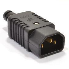 Résistant Démontable IEC C14 Bouilloire Câble Mâle En ligne Prise 10A 230V