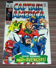 Captain America 116 VG Marvel Silver Age Avengers Red Skull Stan Lee Gene Colan