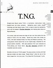 Vintage Original 1992 T.N.G. The New Generation Sheet 2pgs 1 is Doublesided