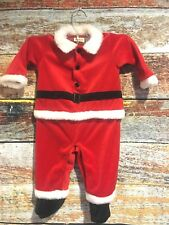643d8c14f Mayfair 6-9 month Santa Claus suit Baby Christmas Holiday Boys girls Velour  Red