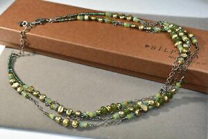 Silpada Green Pearl Jade Sterling Silver Necklace N1683 Retired