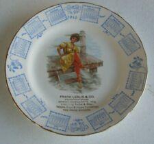 1910 Advertising Calendar Plate Frank Leslie & Co Girl in Swimsuit on Dock #P39
