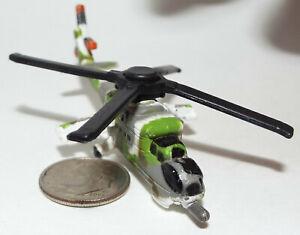 Micro Machine Russian Military MI-24 Hind Helicopter in Green/White/Gray Camo
