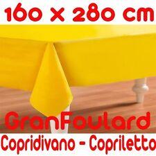 Mobilier De Tissu Housse Couvre-lit GranFoulard couvre tout Coton Jaune 160x280