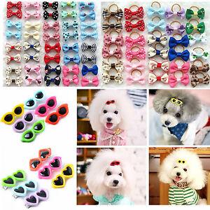 20~100 Pet Grooming Dog Cat Hair Bow Hair Clip sunglasses Bowknot hairpin Decor