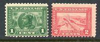 1914-15 1c, 2c PANAMA-PACIFIC PERF 10 MINT #401-02