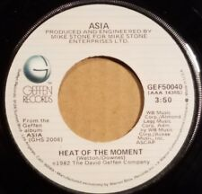"""Heat Of The Moment by Asia 7"""" single 45rpm (1982 Geffen)"""