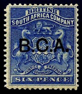 British Central Africa. B.C.A. 1891. 6d. Ultra. SC# 4. SG 4. MLH