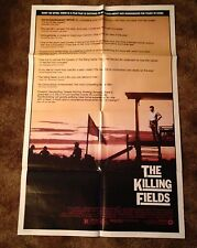 "THE KILLING FIELDS Sam Waterston Original 1984 27"" x 41 ONE SHEET MOVIE POSTER"