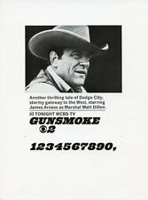 JAMES ARNESS GUNSMOKE RARE ORIGINAL 1967 NEWSPAPER AD SLICK