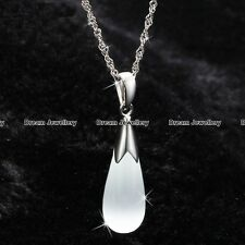 Silver 925 Moonstone Opal Necklace Jewellery White Moon Stone Gift for Her Wife