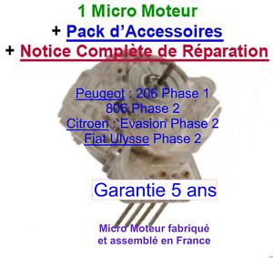 Micro moteur pour Compteur de Peugeot 206 PHASE 1 entre 1998 et Octobre 2001