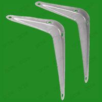 2x London Grey Metal Shelf Shelving Support Wall Mount Brackets, 7 Sizes