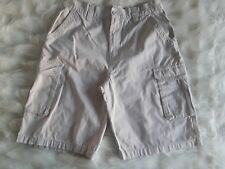 Men's Beverly Hills Polo Club 100% Cotton Beige Cargo 6 Pockets Shorts Size 32