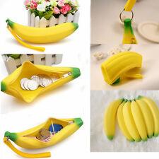 Fashion Novelty Silicone Portable Banana Coin Pencil Case Purse Bag Wallet Pouch