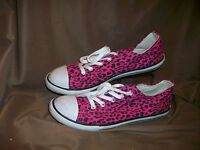 *USED* AEROPOSTALE WOMENS SIZE 8.5 PINK BLACK CANVAS FASHION SNEAKERS SHOES