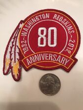 "Washington Redskins 80th Anniversary embroidered iron on patch 3.5"" X 3"""