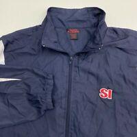 Sports Illustrated Full Zip Jacket Men's XXL Long Sleeve Navy White Wind Breaker