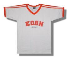 Korn-Logo-X-Large V-neck Soccer Style  T-shirt