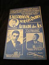 Partition L'accordéon sur les ondes Larcange Aubade des as Chantelot Music Sheet