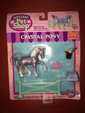 1994 Kenner Littlest Pet Shop Crystal Pony Sparkling Pony NIP!!