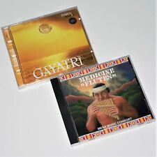 GAYATRI / MEDICINE FLUTES ~ 2 CD Lot ~ VGC ~ MANTRA / CHANTING / NATIVE / SPIRIT