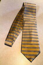 Jos. A Bank Stripe Neck Tie 100% Silk Gold Neck Tie  Free Shipping