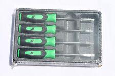Snap On Tools Mini tip Green Screwdriver Set 4pc Soft Grip Handle Brand New