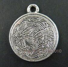 32pcs Tibetan Silver Bee Design Coin Charms 23.5x20x2mm