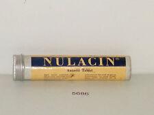 Vintage Nulacin Antacid Tablets Tube Tin Horlicks Limited Full New