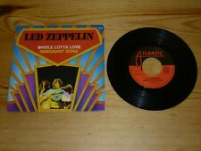 LED ZEPPELIN WHOLE LOTTA LOVE IMMIGRANT SONG 7 INCH SINGLE VINYL RECORD NR MINT