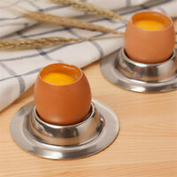 Stainless Steel Spring Wire Tray Boiled Egg Cups Holders Stand Container Q