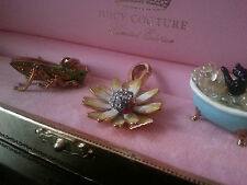Juicy Couture Nature & Animals charm Lot:  Grasshopper, Flower & Yorkie in tub
