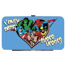 Marvel Comics Only Date Superheroes Padded Hinge Wallet - Thor, Hulk, Wolverine
