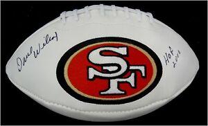 Dave Wilcox Hand Signd Autographed San Francisco 49ers Football HOF 2000 W/COA