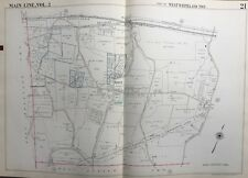 1950 MAIN LINE, CHESTER CO. PA, WEST WHITELAND TWP, GROVE, COPY PLAT ATLAS MAP