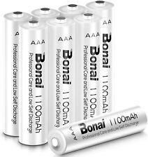 BONAI Pilas Recargables AAA 1100mAh 1.2V NI-MH Pilas AAA (AAA 8 Pilas)