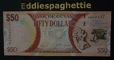 Guyana 50 Dollars 2016 Prefix AA UNC P-41