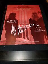 Tommy Shaw Jack Blades My Hallucination Rare  Radio Promo Poster Ad Framed! #2