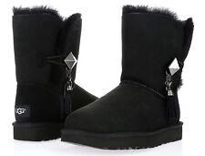 Ugg's Women's Lilou Swarovski Black Sheepskin Leather Winter Boots Sz. 7 233986