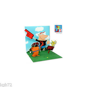 #1 DAD Pop Up Greeting Card Up With Paper #1014 Father's Day & More Options