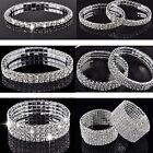 Mode bijoux bracelet fin cristal strass blanc argenté neuf soirée mariage