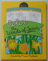 Color the Bible (WORDS OF JESUS) Adult Coloring Book, Christian Scripture Verse